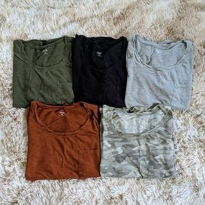 a.n.a t-shirt bundle of 5